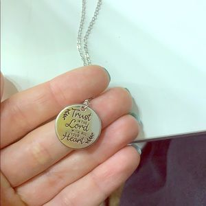 Trust in the Lord necklace with earrings .